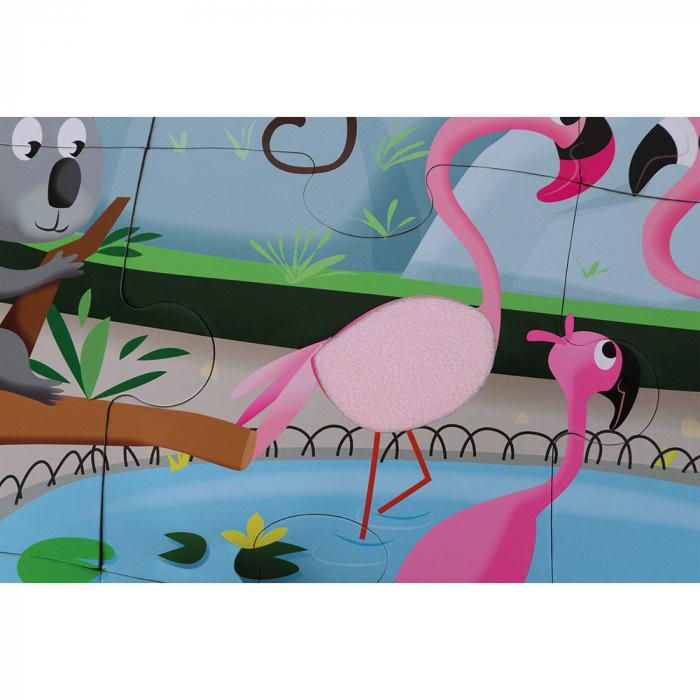 Puzzle tactil - La gradina zoologica - 20 de piese, Janod J02774 3