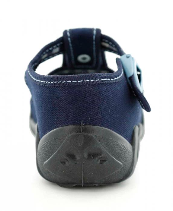 Sandale baieti cu motiv ancora (cu catarama), din material textil 5