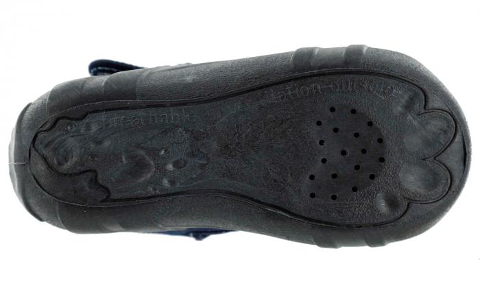 Sandale baieti cu motiv ancora (cu catarama), din material textil 6