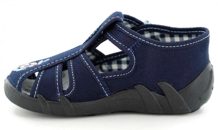 Sandale baieti cu motiv ancora (cu catarama), din material textil 3