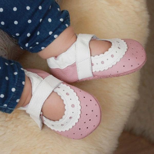 Sandale cu talpă moale Liliputi® - Baby Rose 1