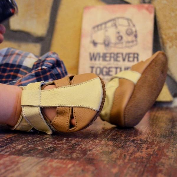 Sandale cu talpă moale Liliputi® - Peanut Butter 1