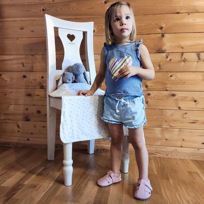 Sandale cu talpă moale Liliputi cu crampoane antialunecare - Cotton Candy 4