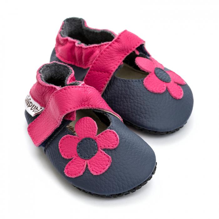 Sandale cu talpă moale Liliputi cu crampoane antialunecare - Hawaii 1