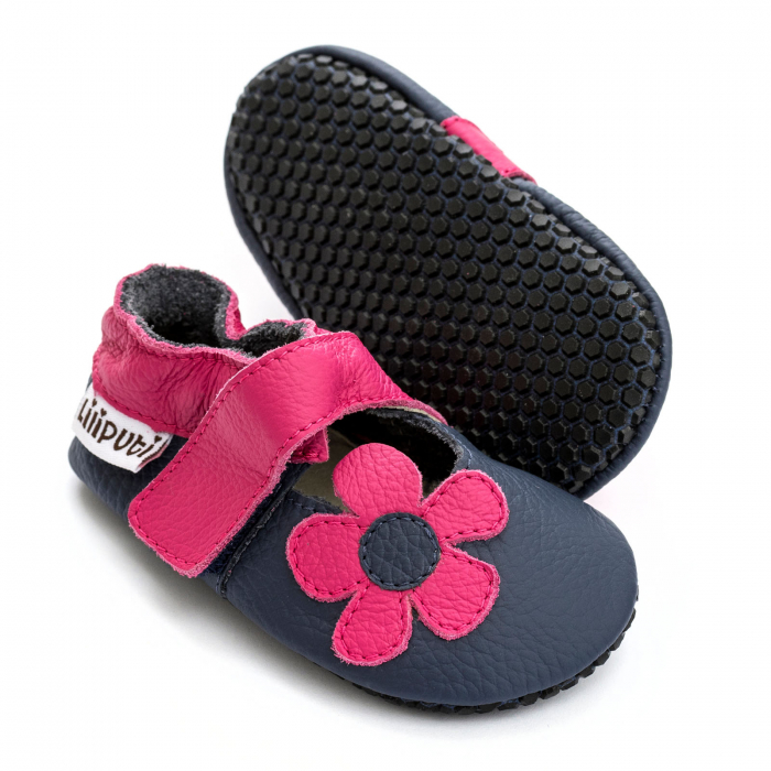 Sandale cu talpă moale Liliputi cu crampoane antialunecare - Hawaii 0