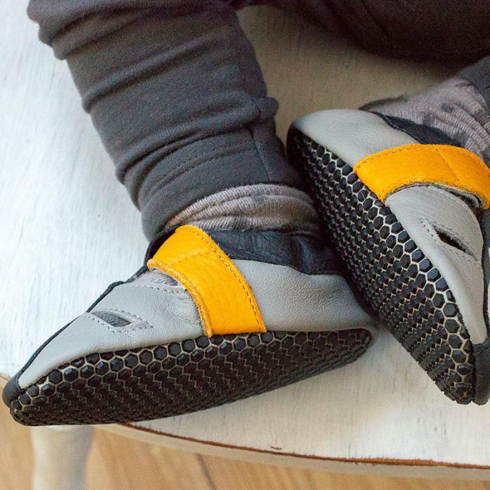 Sandale cu talpă moale Liliputi cu crampoane antialunecare - Yellowstone 9