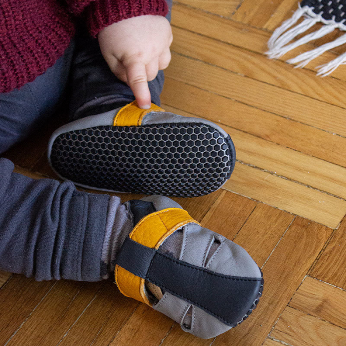 Sandale cu talpă moale Liliputi cu crampoane antialunecare - Yellowstone 11