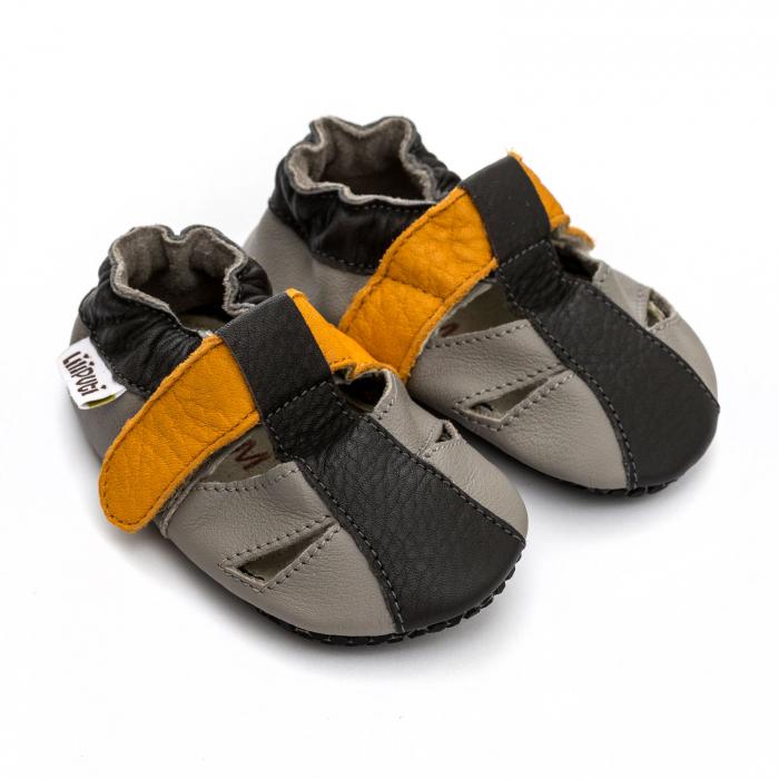 Sandale cu talpă moale Liliputi cu crampoane antialunecare - Yellowstone 1