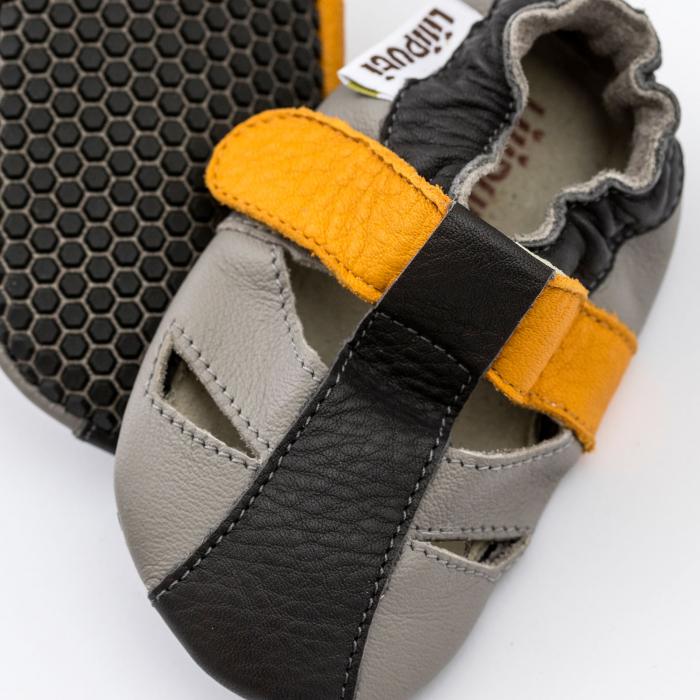 Sandale cu talpă moale Liliputi cu crampoane antialunecare - Yellowstone 2