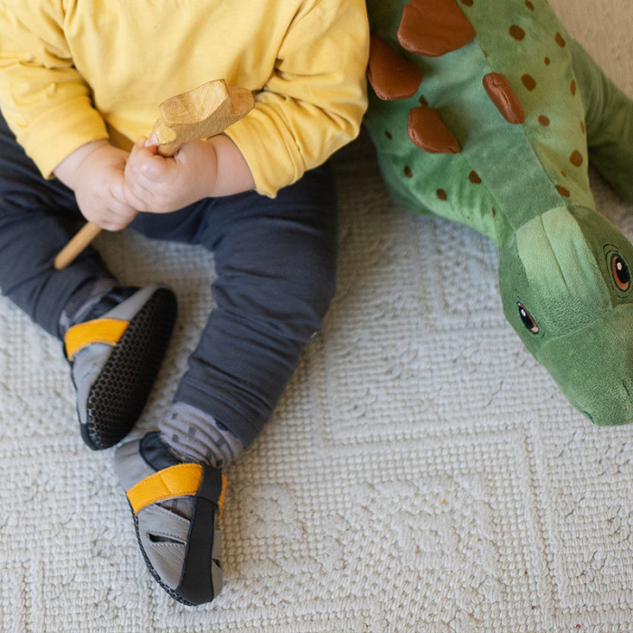 Sandale cu talpă moale Liliputi cu crampoane antialunecare - Yellowstone 7
