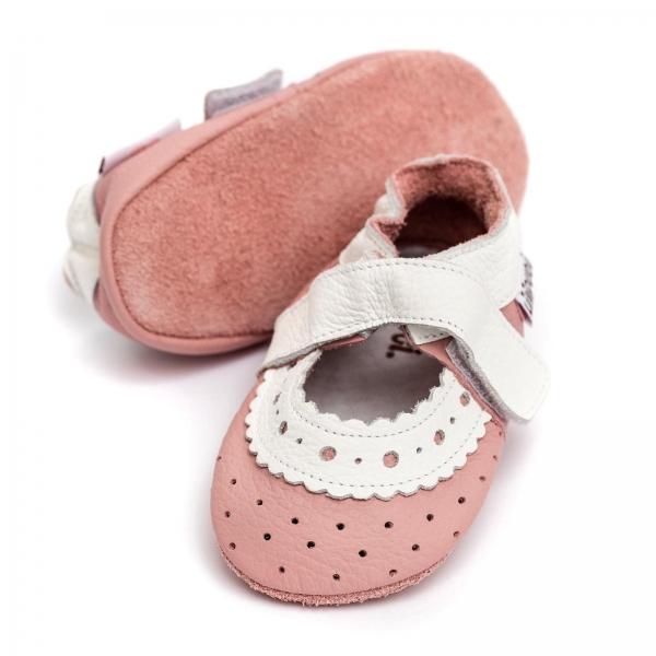 Sandale cu talpă moale Liliputi® - Baby Rose 2