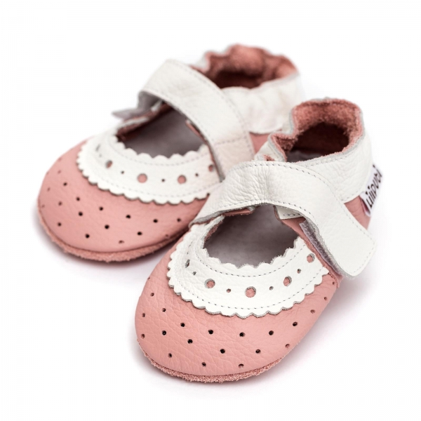 Sandale cu talpă moale Liliputi® - Baby Rose 0