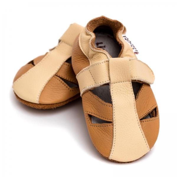 Sandale cu talpă moale Liliputi® - Peanut Butter 3