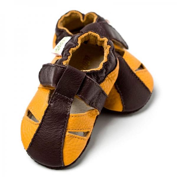 Sandale cu talpă moale Liliputi® - Atacama Yellow 0