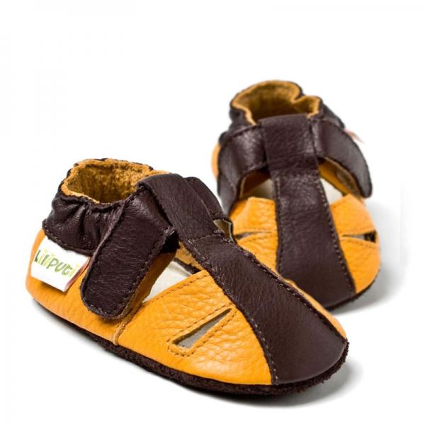 Sandale cu talpă moale Liliputi® - Atacama Yellow 2