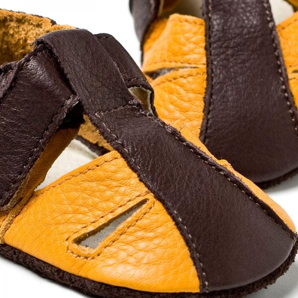 Sandale cu talpă moale Liliputi® - Atacama Yellow 1