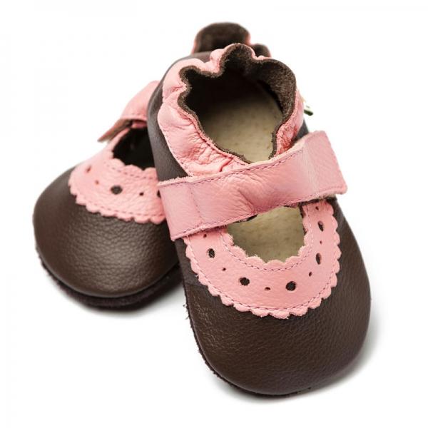 Sandale cu talpă moale Liliputi® - Sahara Brown 0