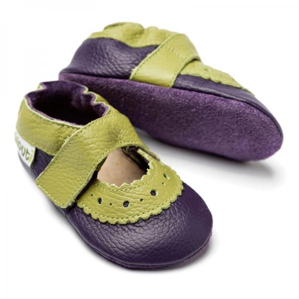 Sandale cu talpă moale Liliputi® - Sahara Purple 0