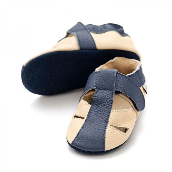 Sandale cu talpă moale Liliputi® - Atacama Beige 0