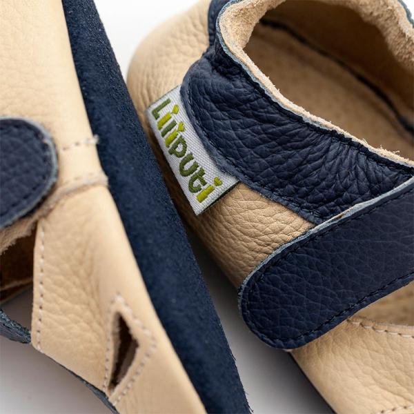 Sandale cu talpă moale Liliputi® - Atacama Beige 1