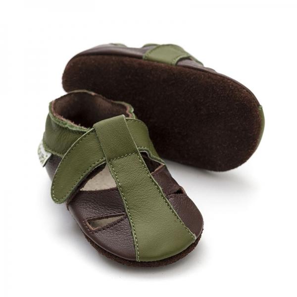 Sandale cu talpă moale Liliputi® - Atacama Brown 0