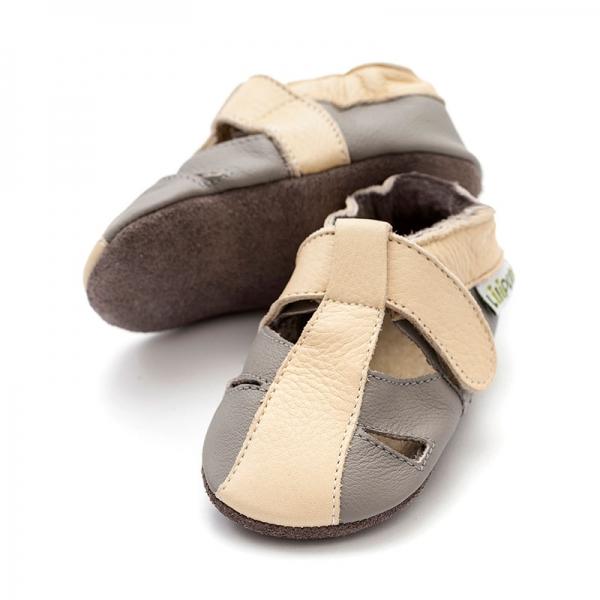 Sandale cu talpă moale Liliputi® - Atacama Grey 0