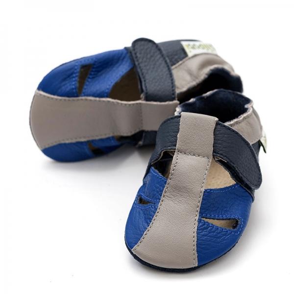 Sandale cu talpă moale Liliputi® - Atacama Navy 2
