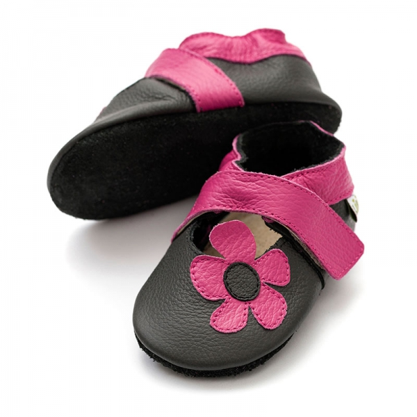 Sandale cu talpă moale Liliputi® - Kalahari Black 0