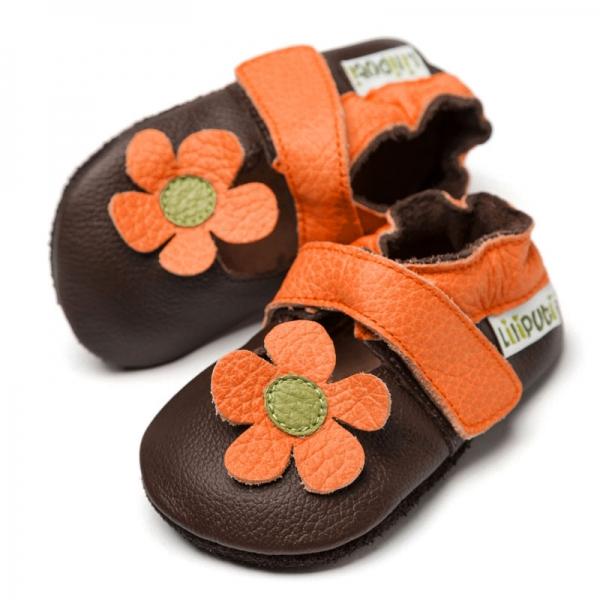 Sandale cu talpă moale Liliputi® - Kalahari Brown 0