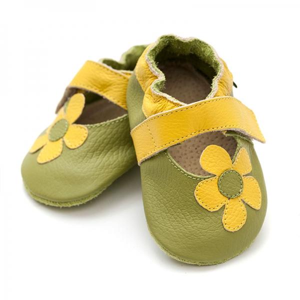 Sandale cu talpă moale Liliputi® - Kalahari Green 0