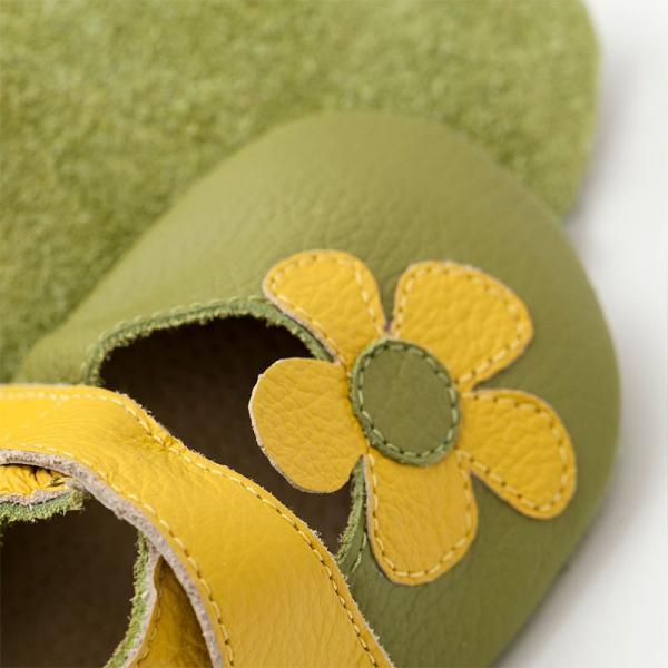 Sandale cu talpă moale Liliputi® - Kalahari Green 1