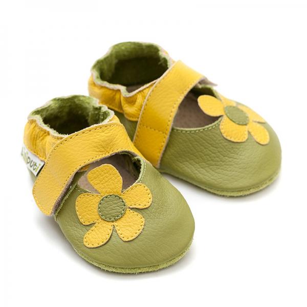 Sandale cu talpă moale Liliputi® - Kalahari Green 2