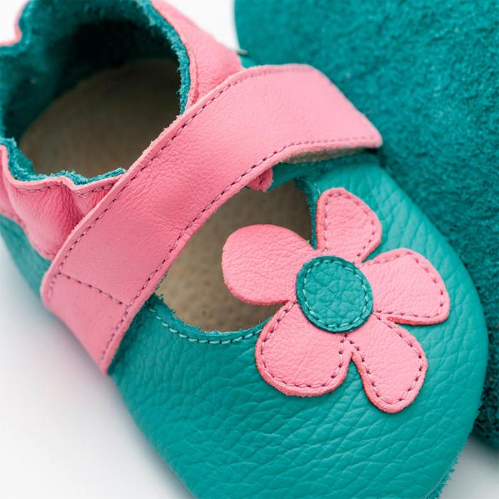 Sandale cu talpă moale Liliputi® - Kalahari Turquoise 1