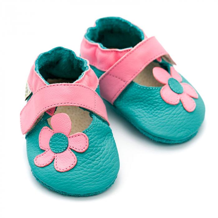 Sandale cu talpă moale Liliputi® - Kalahari Turquoise 2