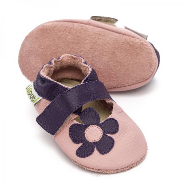 Sandale cu talpă moale Liliputi® - Lilac 0