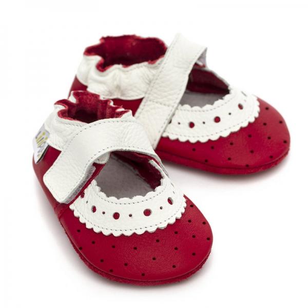 Sandale cu talpă moale Liliputi® - Red Rose 2
