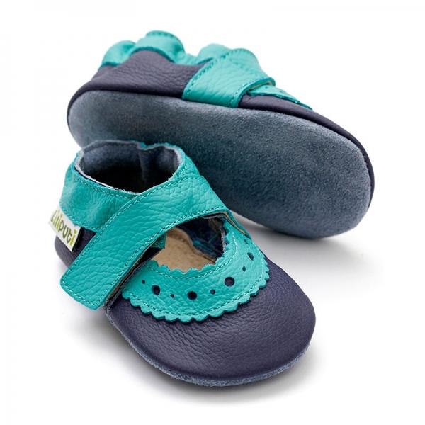 Sandale cu talpă moale Liliputi® - Sahara Blue 0