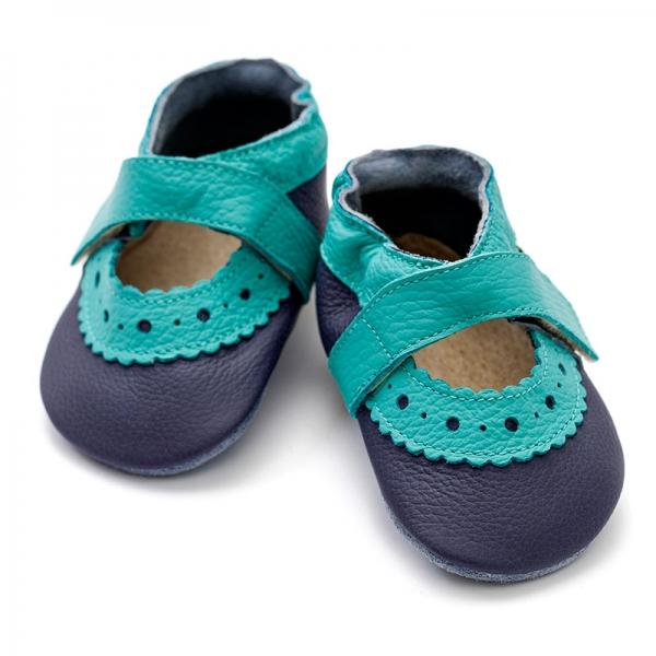 Sandale cu talpă moale Liliputi® - Sahara Blue 2