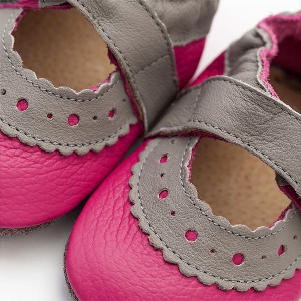 Sandale cu talpă moale Liliputi® - Sahara Fuchsia