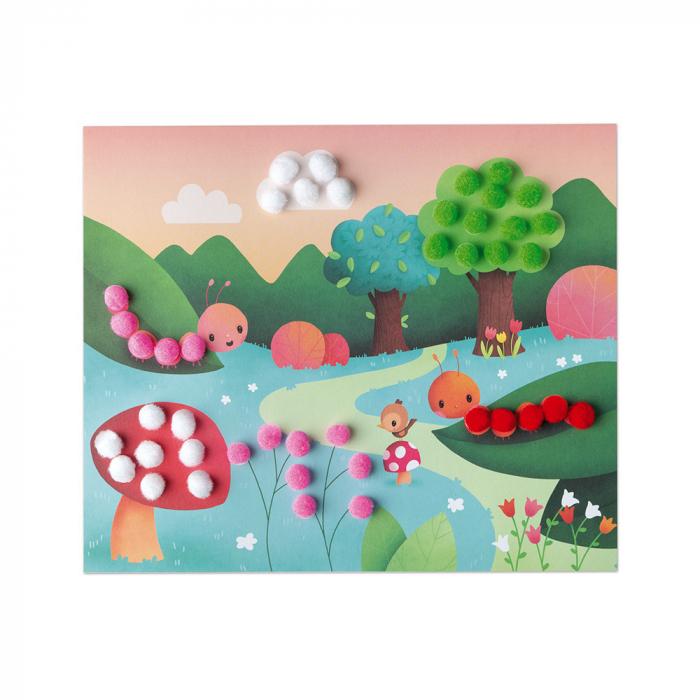 Set creativ - Bricolaj cu pompoane, Janod J07787 3