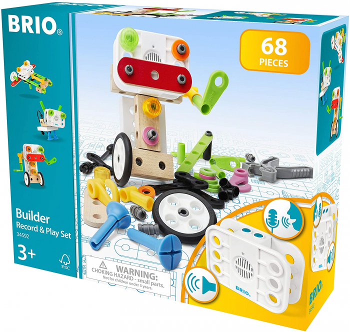 Set de construit din lemn - Record & Play, Brio 34592 0