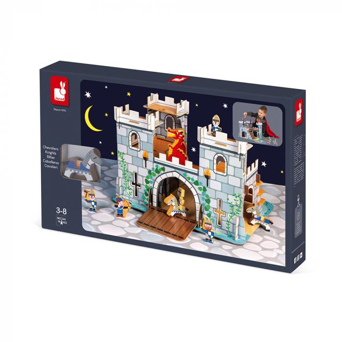 Set de joacă din lemn mini povești - Castelul fortificat și dragon - Janod J08582 [1]