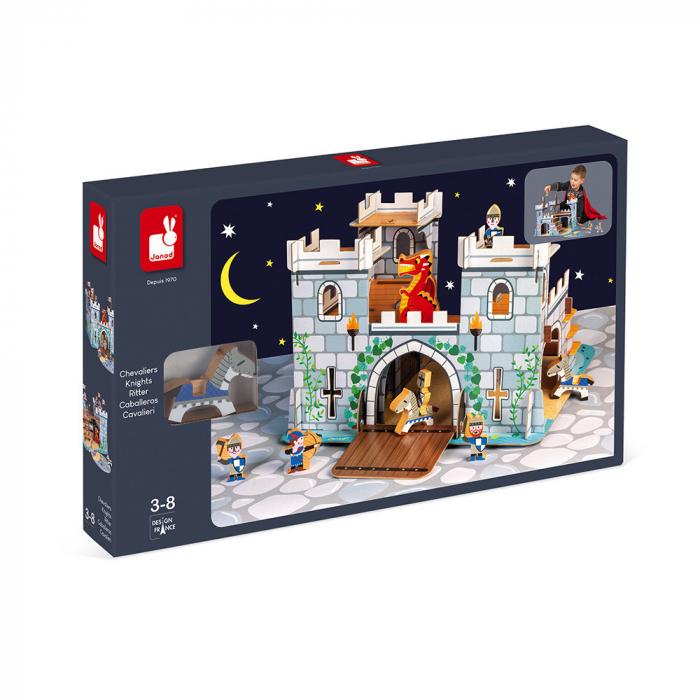 Set de joacă din lemn mini povești - Castelul fortificat și dragon - Janod J08582 [5]