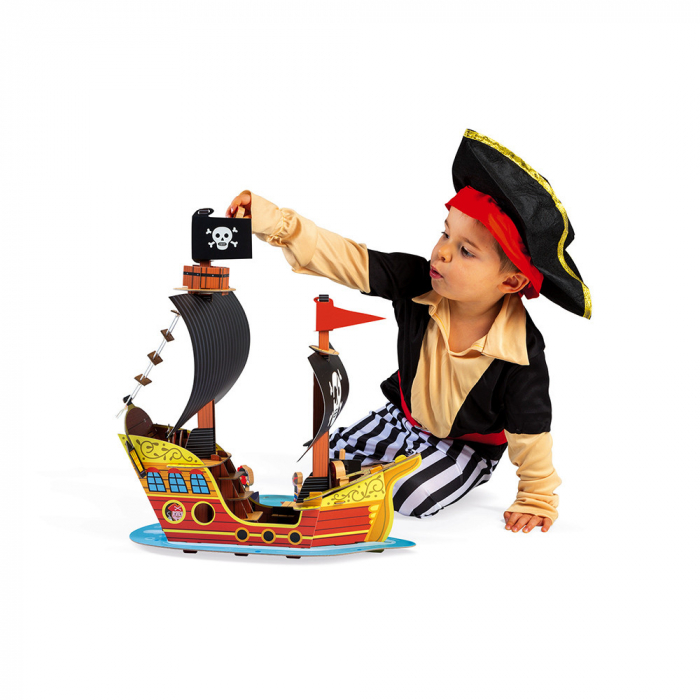 Set de joacă din lemn mini povești - Corabie de pirați - Janod J08579 2