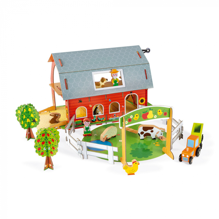 Set de joacă din lemn mini povești - Fermă cu animale - Janod J08577 0