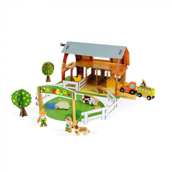 Set de joacă din lemn mini povești - Fermă cu animale - Janod J08577 3