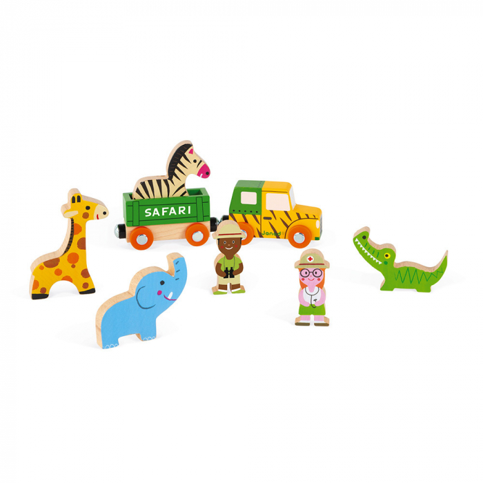 Set de joacă din lemn mini povești - Set de safari - Janod J08583 2