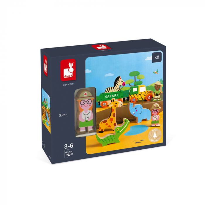 Set de joacă din lemn mini povești - Set de safari - Janod J08583 4