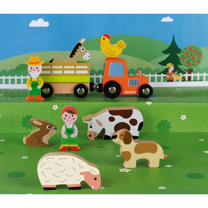 Set de joacă din lemn mini povești - Set fermă din lemn - Janod J08576 2