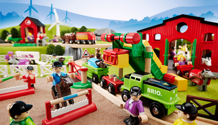 Set de tren deluxe BRIO World, 33870 12